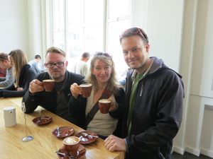 Toggi, Sunna and Scott at Blue Bottle